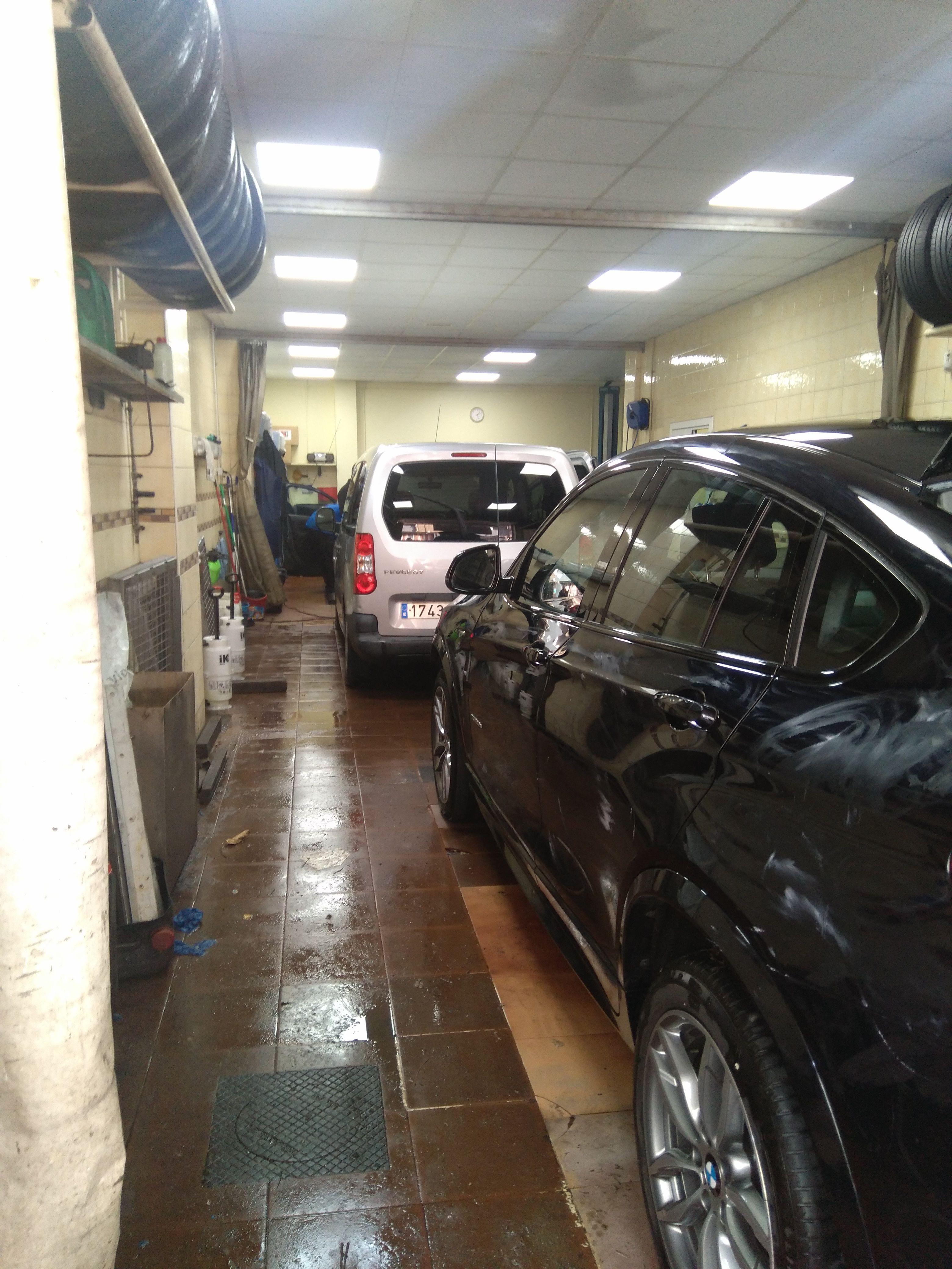 Taller de lavado de coches en Vizcaya
