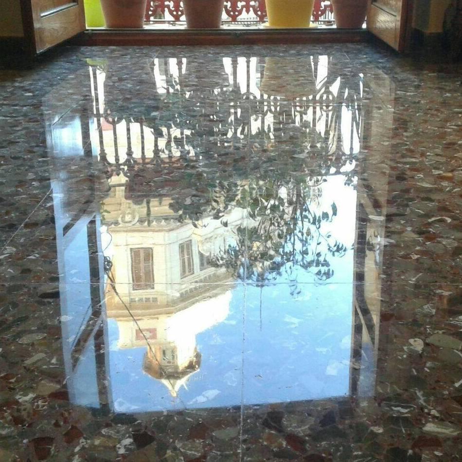 Cristalizado de suelos de terrazo en Cartagena (Murcia)