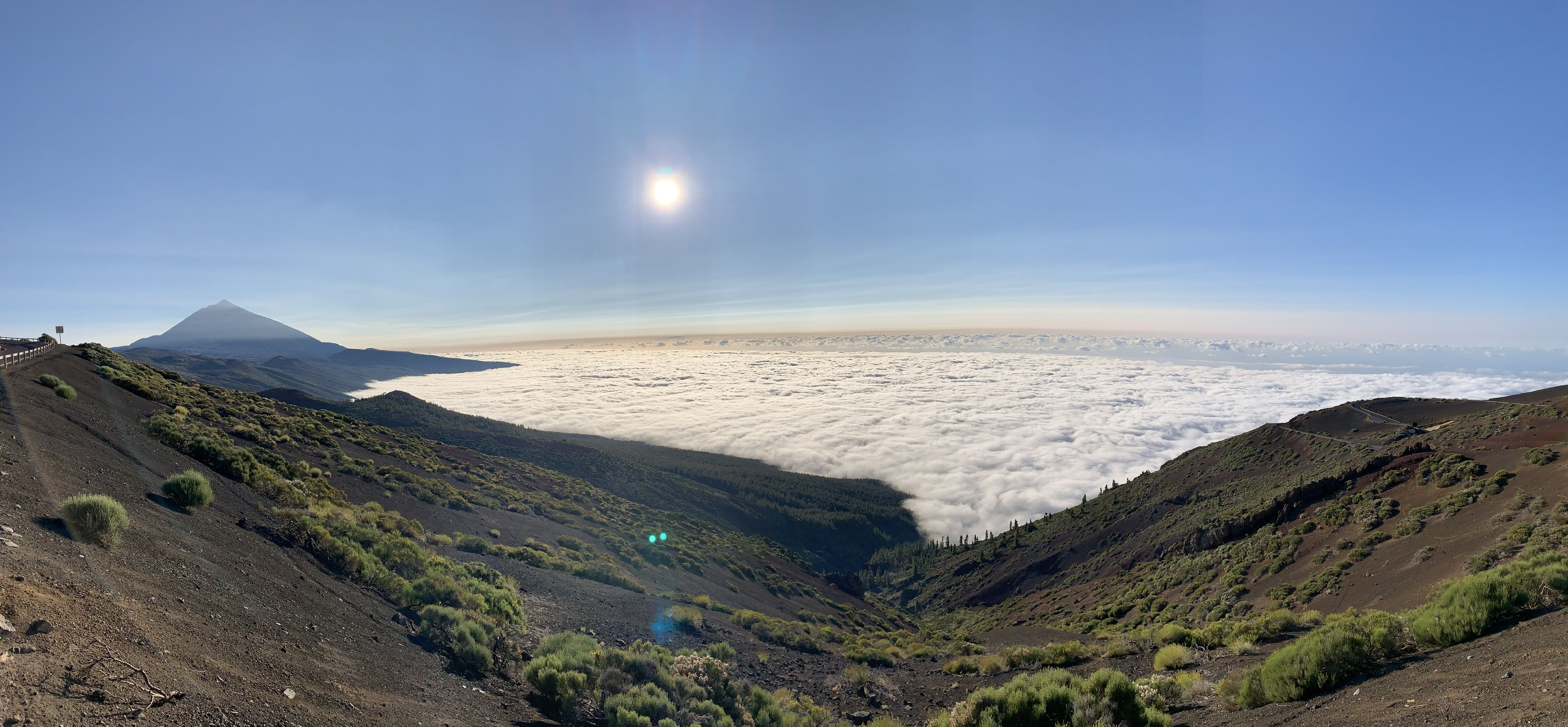 A walk above the clouds in Tenerife