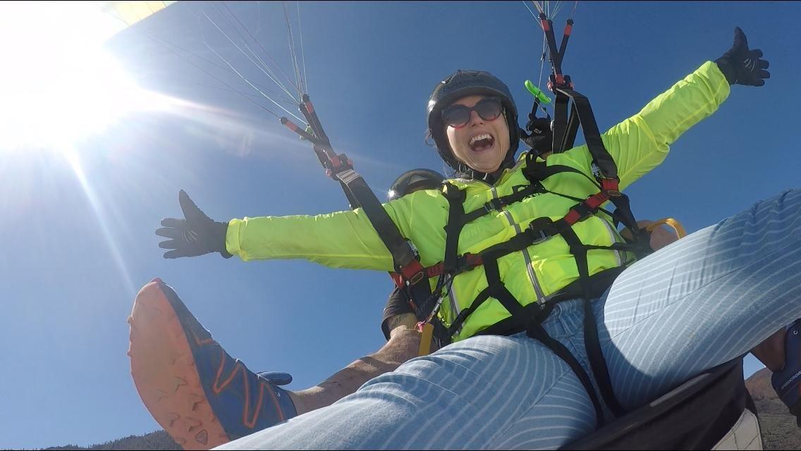 Paragliding flight in Tenerife
