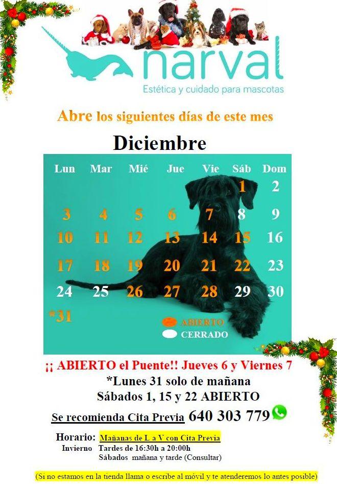 Calendario Perruno.Calendario Diciembre 18