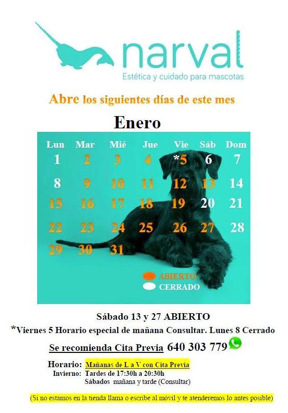 Narval Mascotas peluquería canina Leganés | ENERO 18