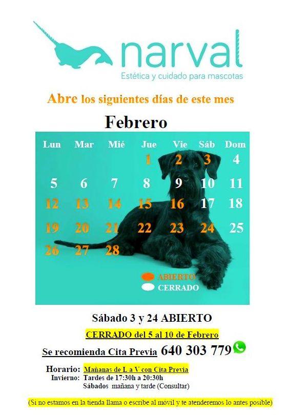 Narval Mascotas peluquería canina Leganés |FEBRERO 18