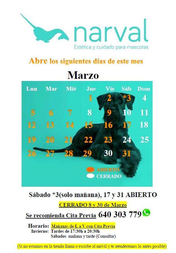 Narval Mascotas peluquería canina Leganés |MARZO 18