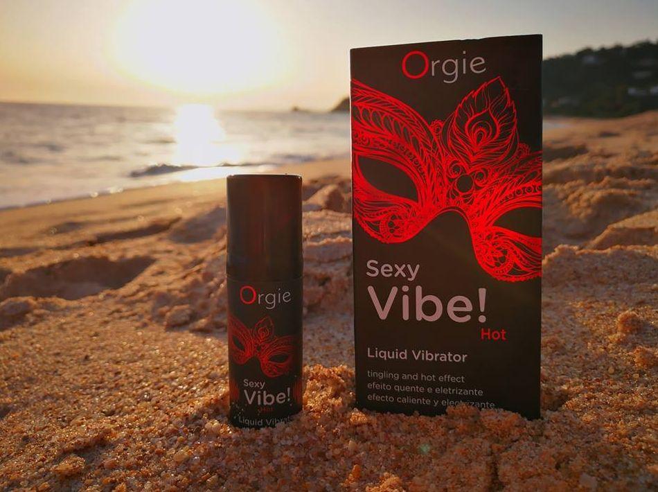 SEXY VIBE! ORGIE, gel vibrador con efecto calor, nuevas sensaciones te esperan!