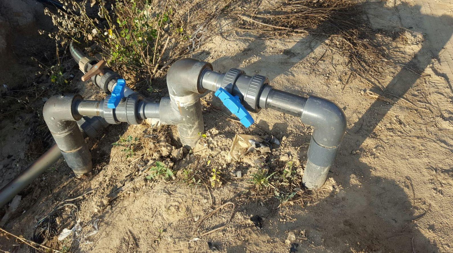 Modificacion de riego y reparación de válvulas de paso en Campredo