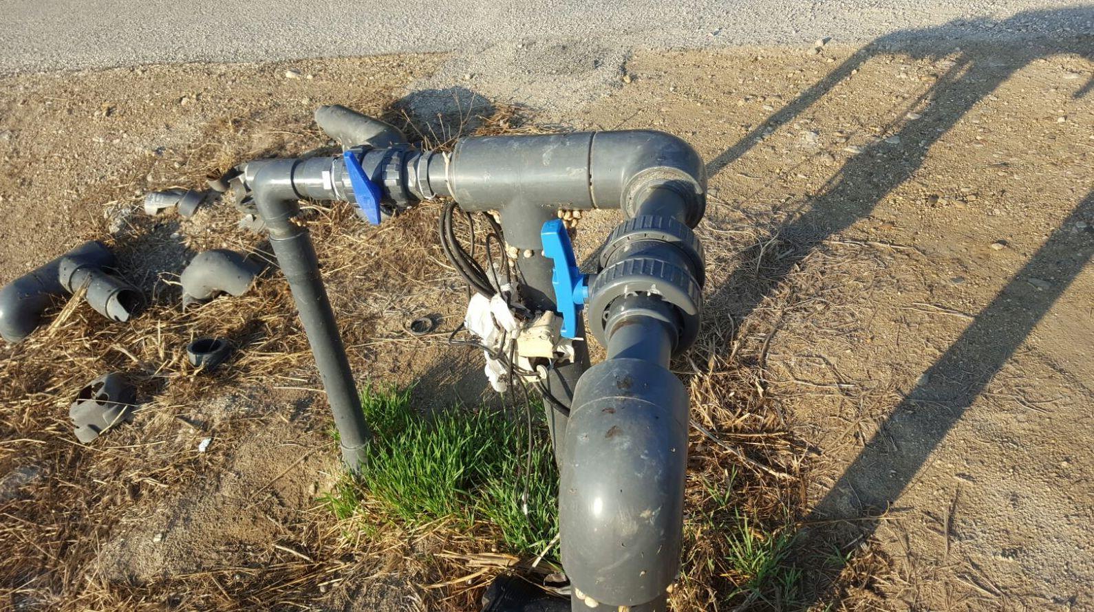 modificación de riego y reparación de válvulas de paso