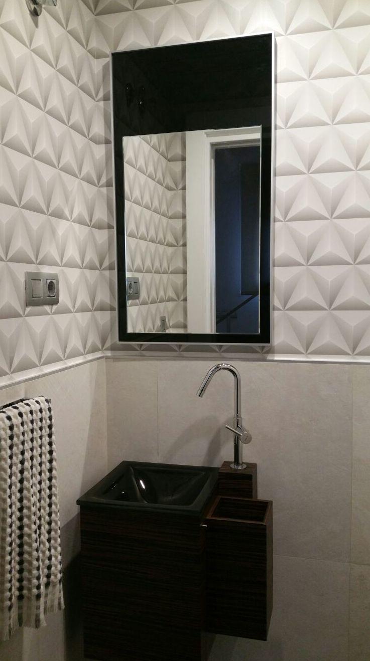 baño de cortesía con papel en 3D
