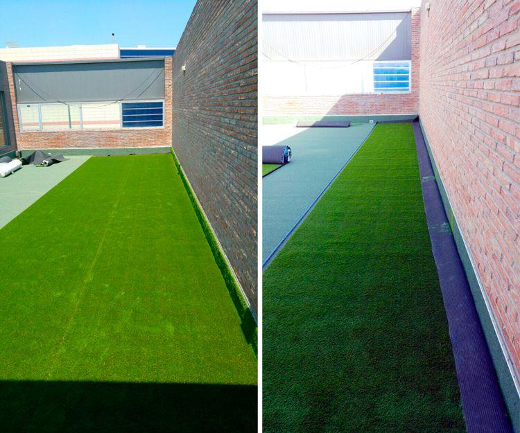 Instalación de césped artificial en Pamplona