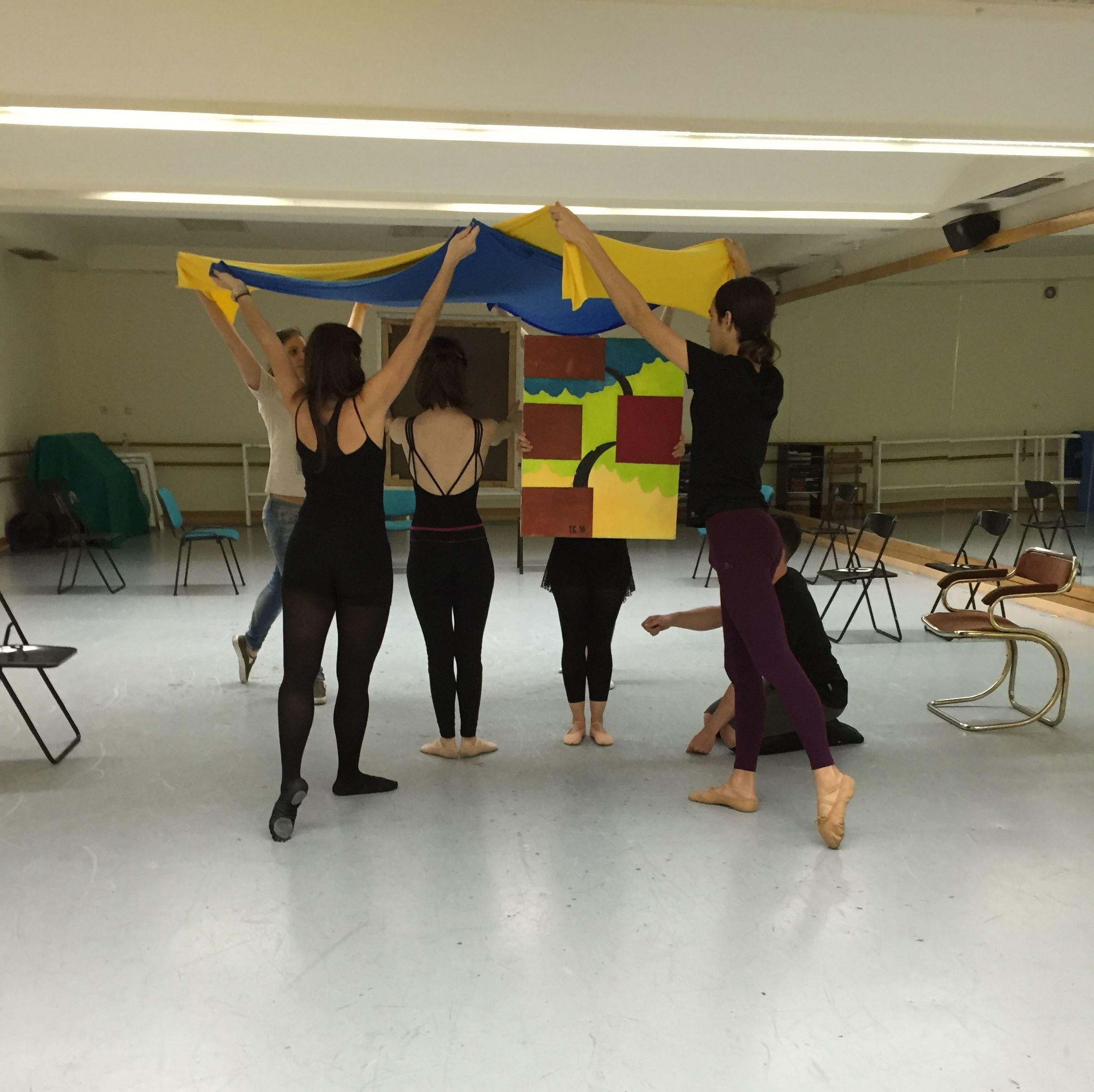 Ensayos en la Escuela de Danza Duque
