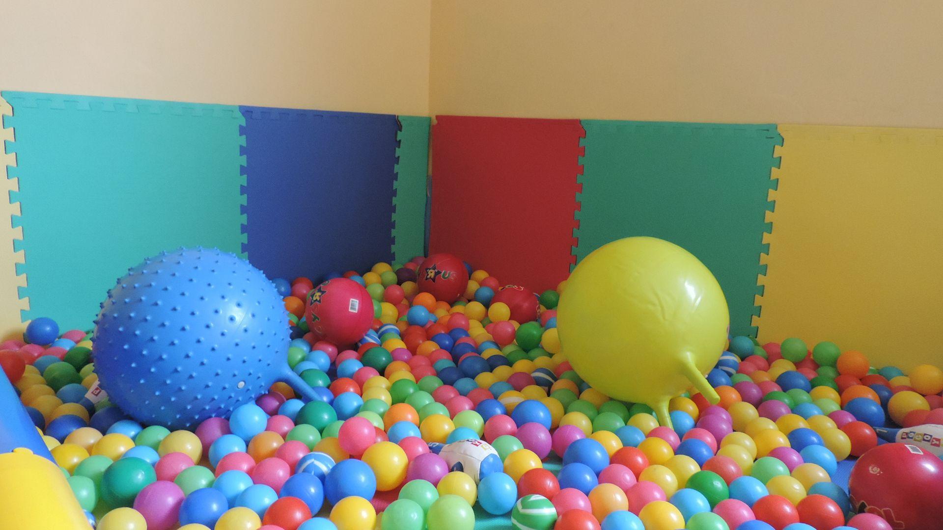 Piscina de bolas. Aula de psicomotricidad