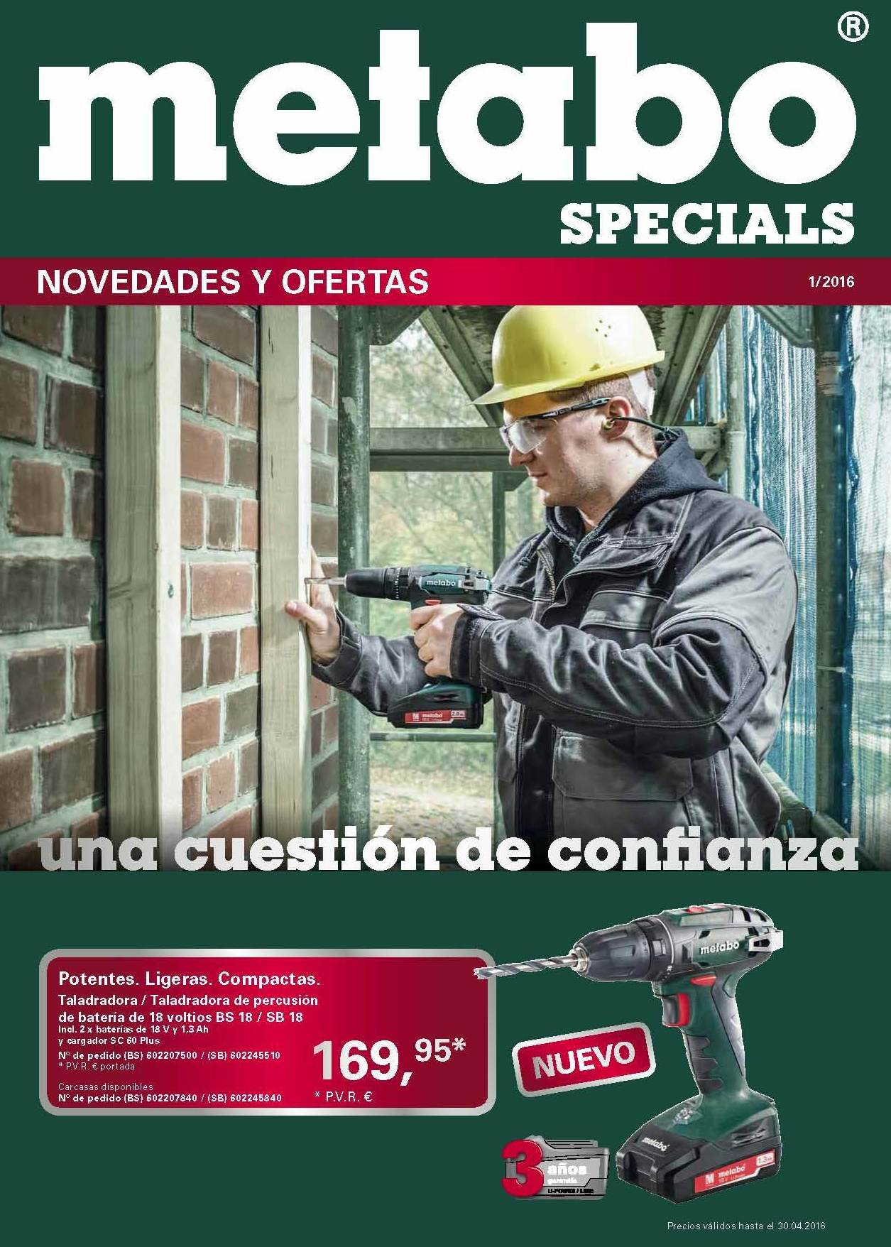 Portada folleto Metabo 1/2016