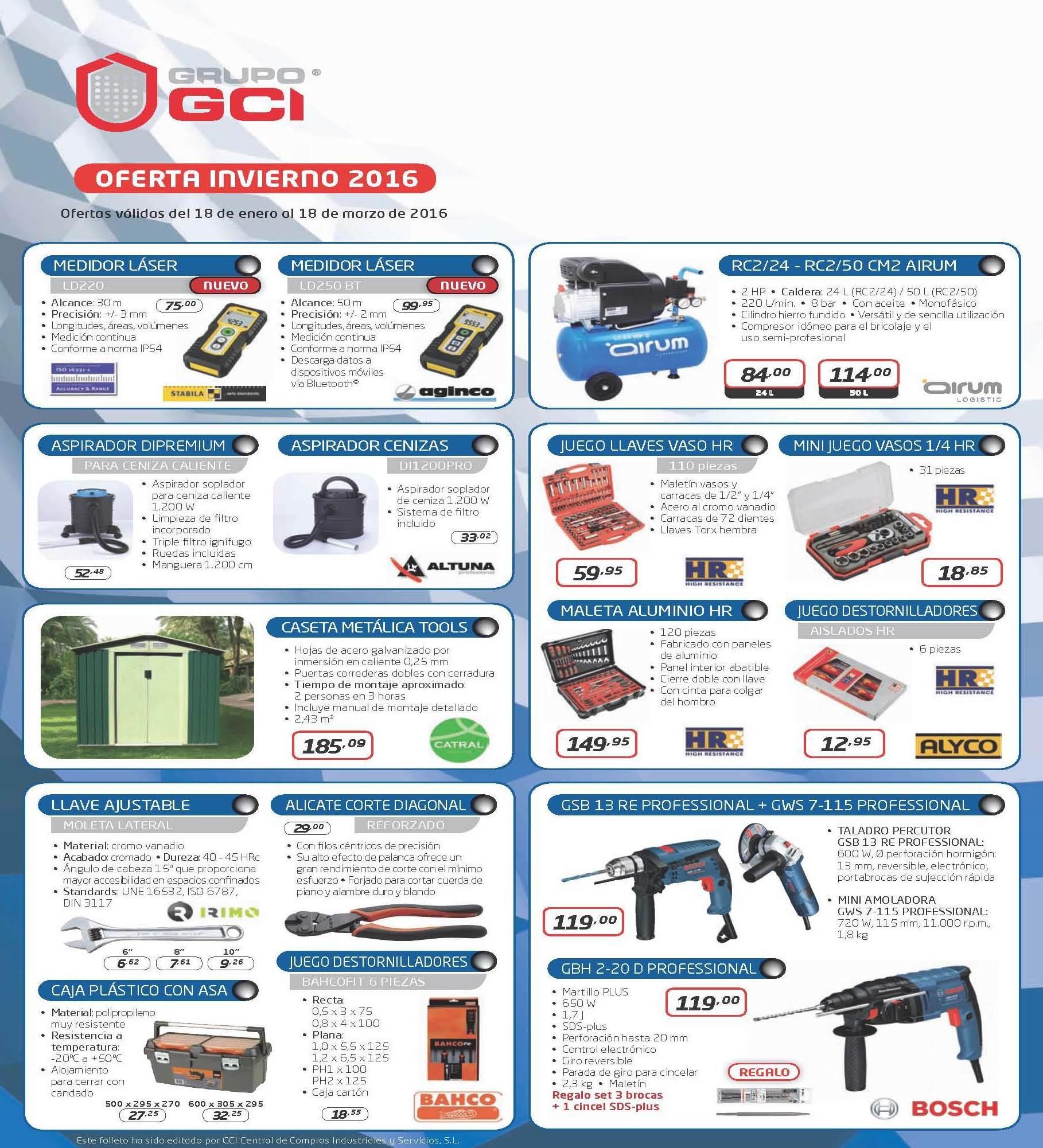 Díptico de ofertas GCI