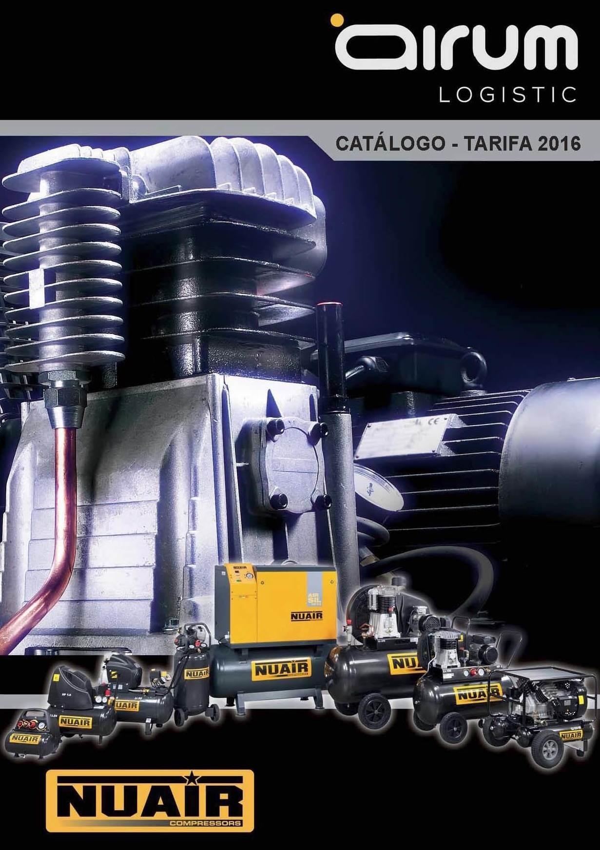 Portada catálogo-tarifa 2016 Airum Nu Air