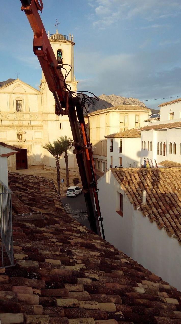 Bajada de depósito en La Nucía