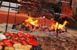 Carne a la brasa en el restaurante El Pastoret