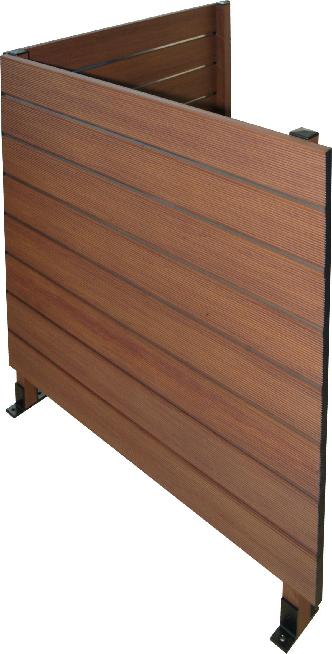 Vallas modernas con perfiler a de aluminio productos y - Imitacion madera para fachadas ...
