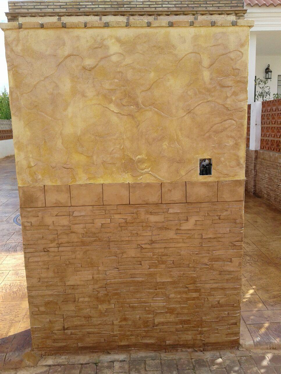Hormigón impreso vertical  en Sevilla