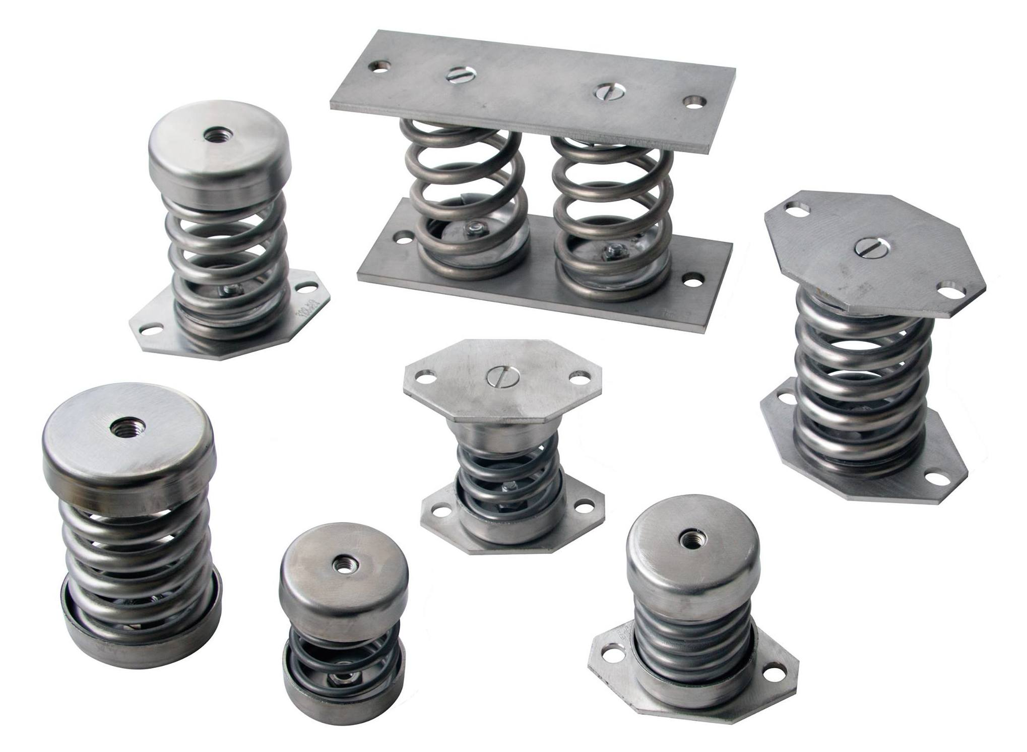 Factory of anti-vibratory brackets in several materials.