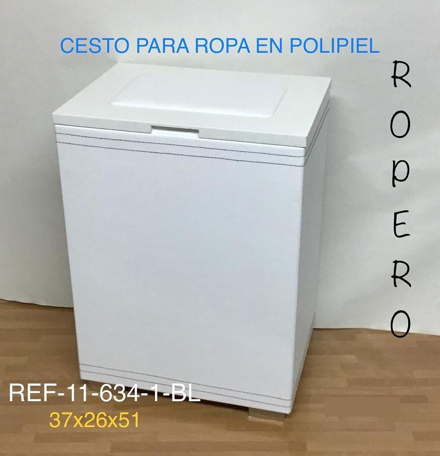 11-634-1 ROPERO POLIPIEL  BLANCO 37X26X51
