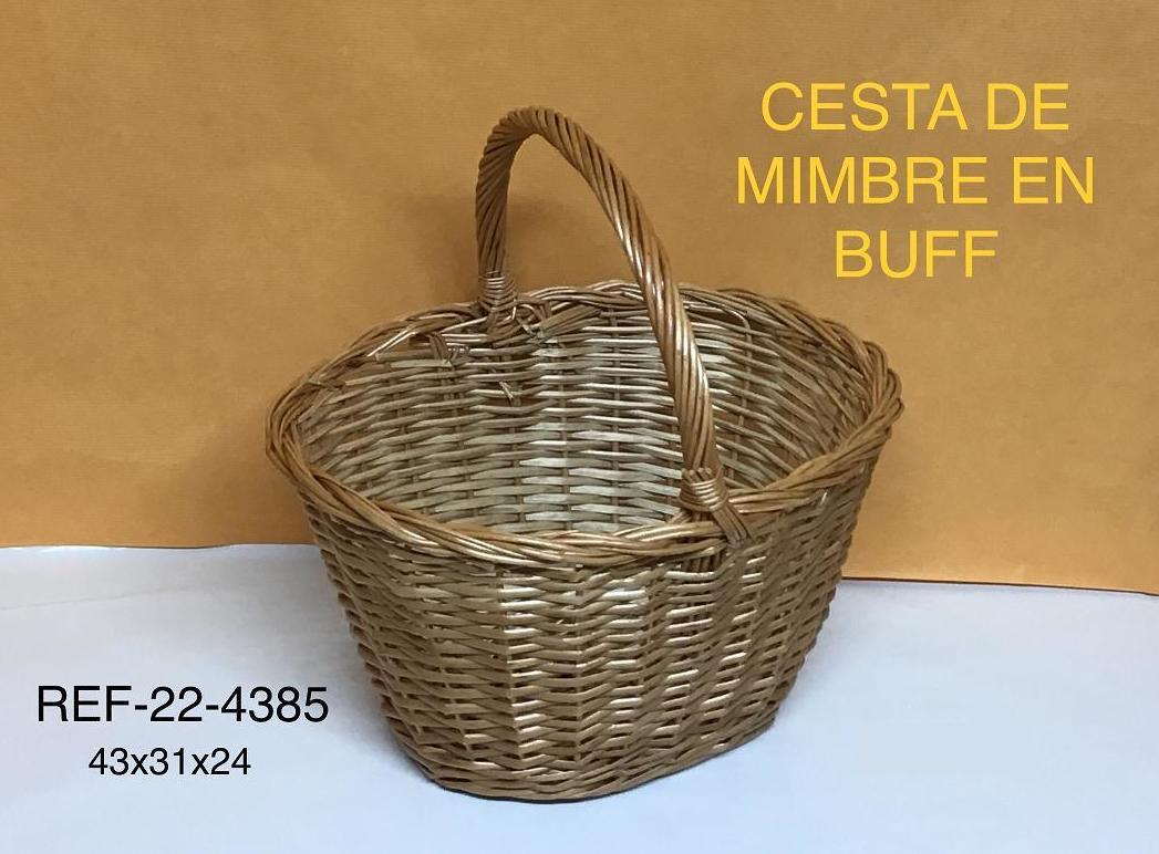 CESTA SETAS MIEL 43X31X24