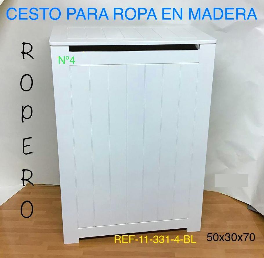 11-331-4 ROPERO RAYADO ALBERT BLANCO 50X30X70