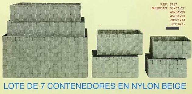 22-5737 SET 7 CAJONES CINTAS BEIGE G57X37X27
