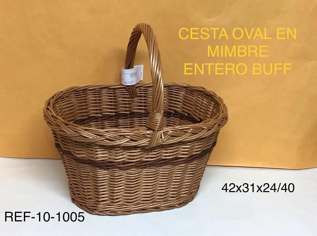 CESTA OVAL MIMBRE ENTERO BUFF