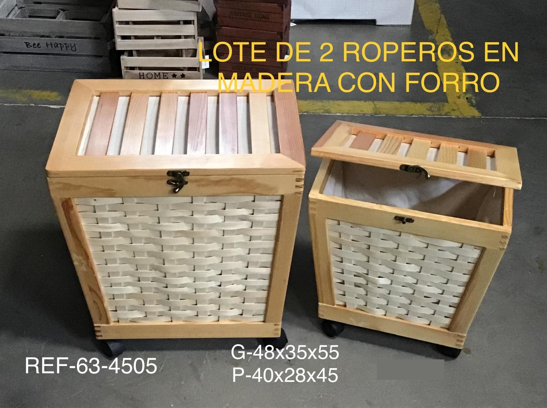 JGO 2 ROPEROS MADERA CON RUEDAS