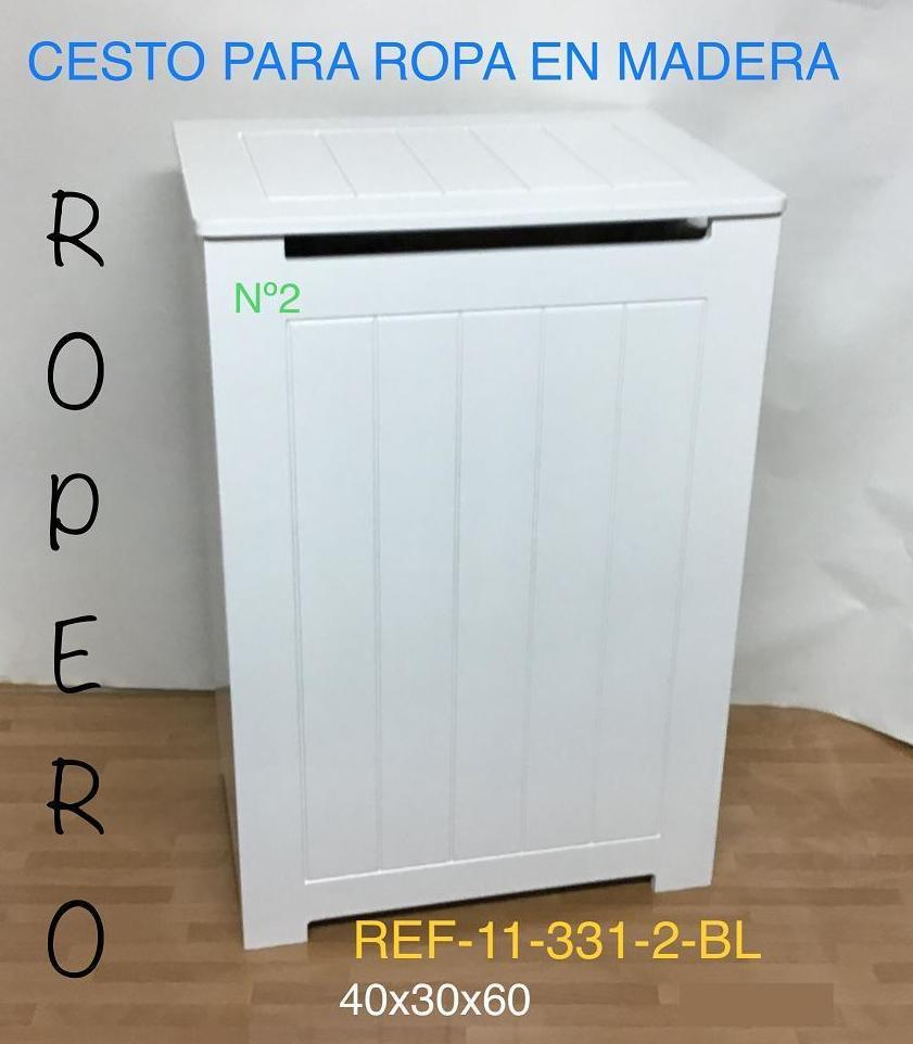 11-331-2 ROPERO RAYADO LACADO BLANCO 40X30X60