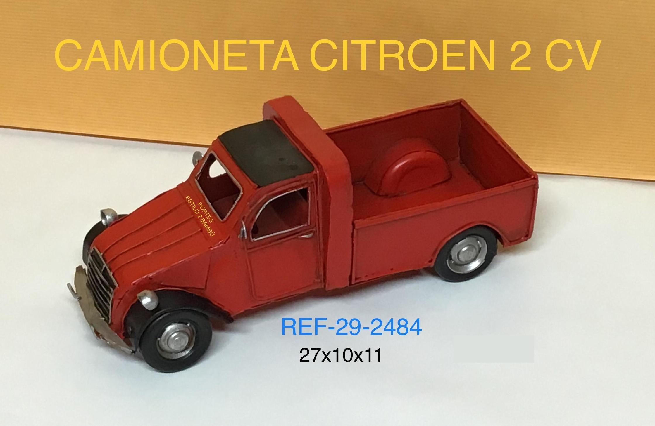 CAMIONETA METAL 2CV ROJA 27X10X11