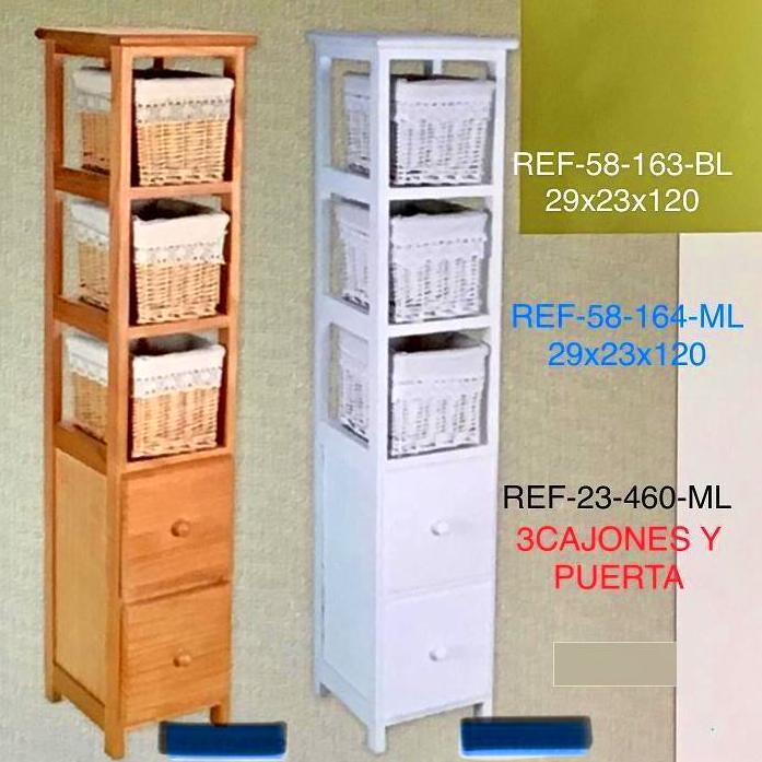 MUEBLE 2CAJ + 3CESTOS 29X23X120