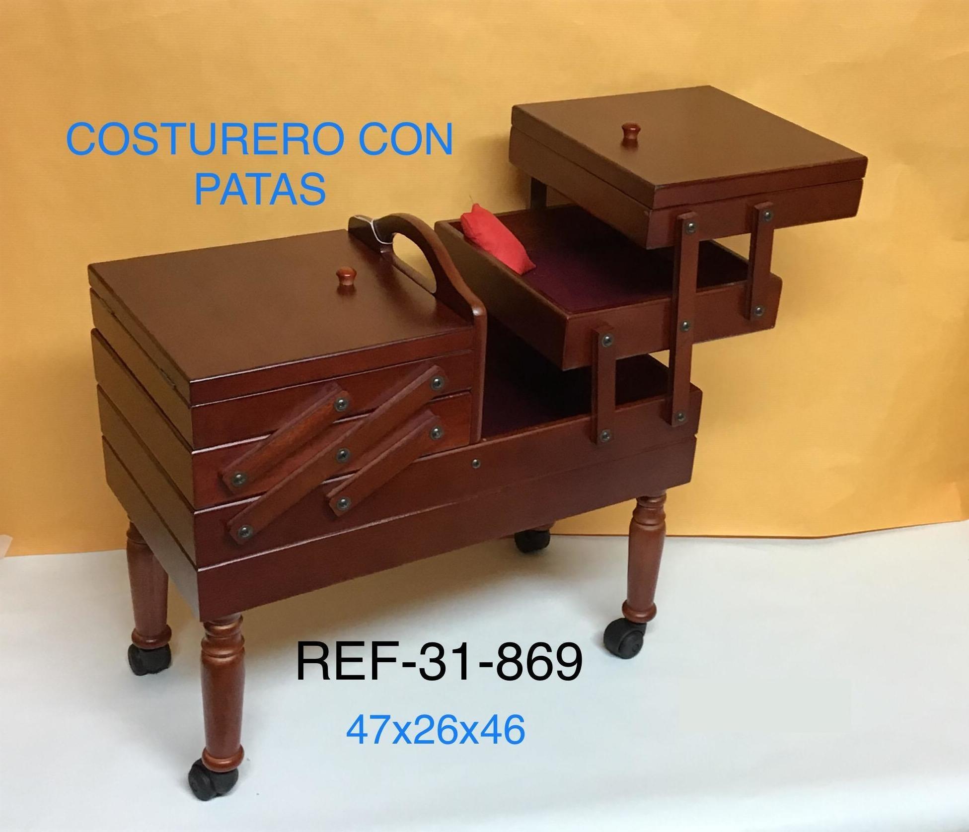 COSTURERO EXTENSIBLE PATAS CON RUEDAS  47X26X46