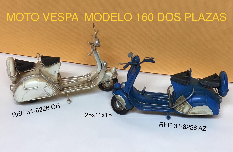 MOTO VESPA COL. SURTIDOS 25X11X15