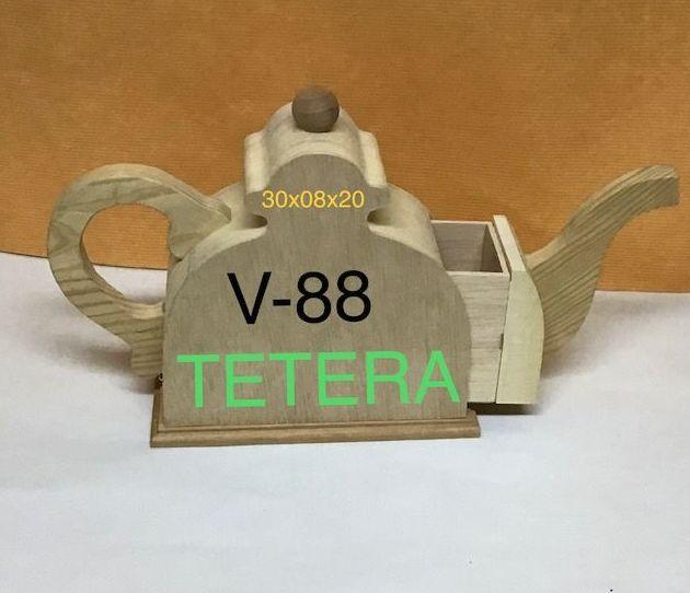 TETERA MADERA NATURAL