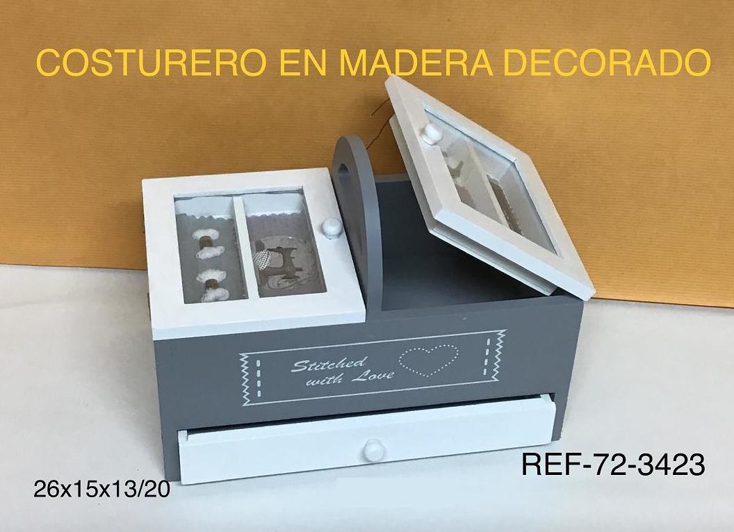 COSTURERO MADERA RECT 26X15X13/20