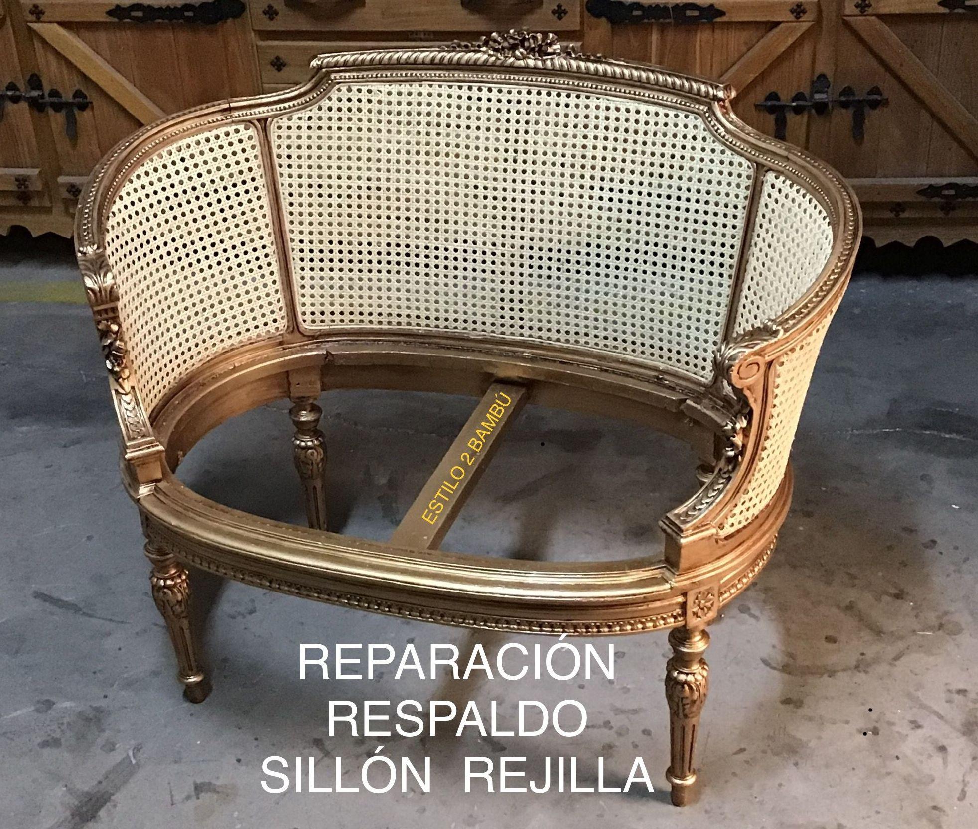 REPARACION RESPALDO SILLON REJILLA