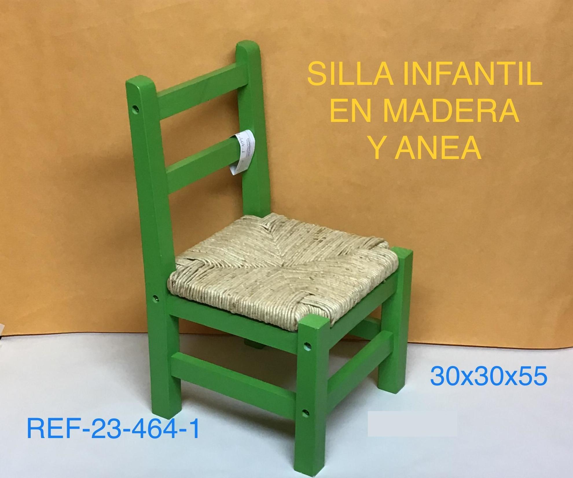 SILLA INFANTIL ANEA COLOR VERDE 30X30X55