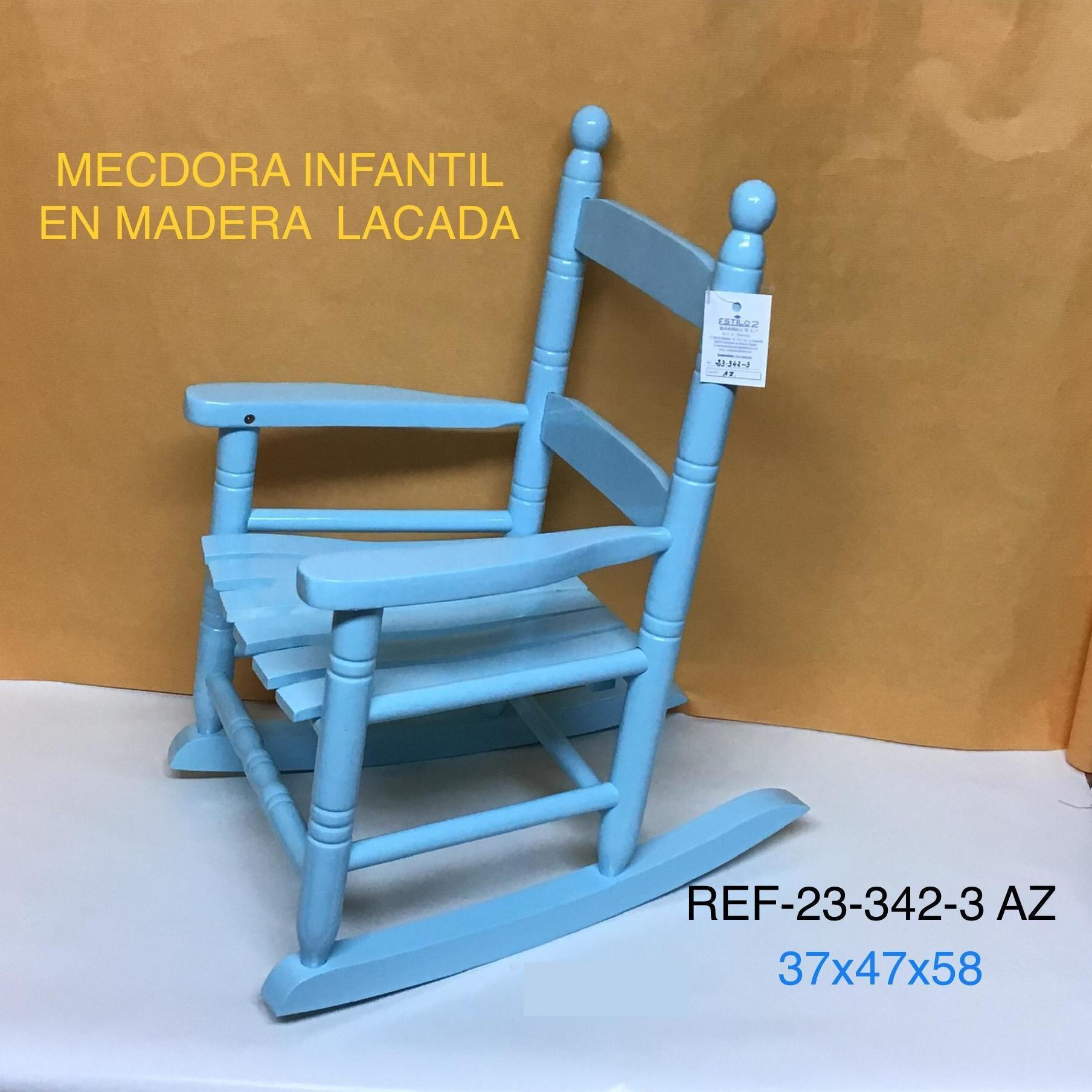 MECEDORA  MAD. INFANTIL LAC. AZUL 37X47X58