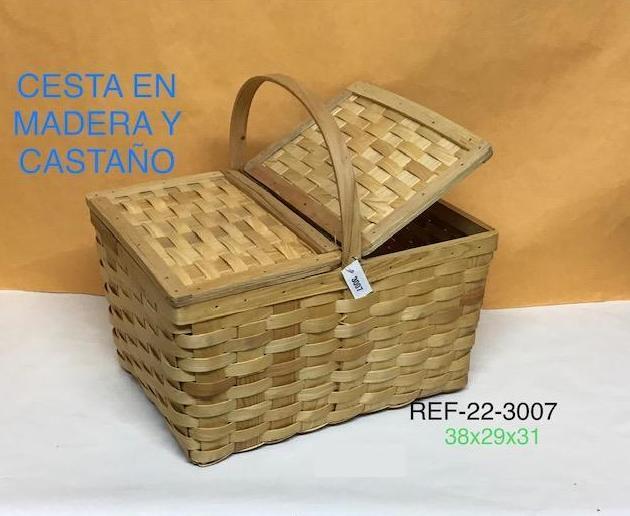 22-3007 CESTA TAPAS CASTAÑO NATURAL 38X29X21