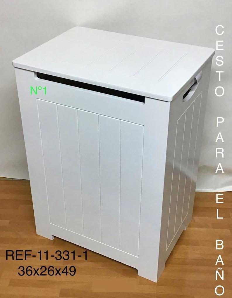 11-331-1 ROPERO RAYADO LACADO BLANCO 36X26X50