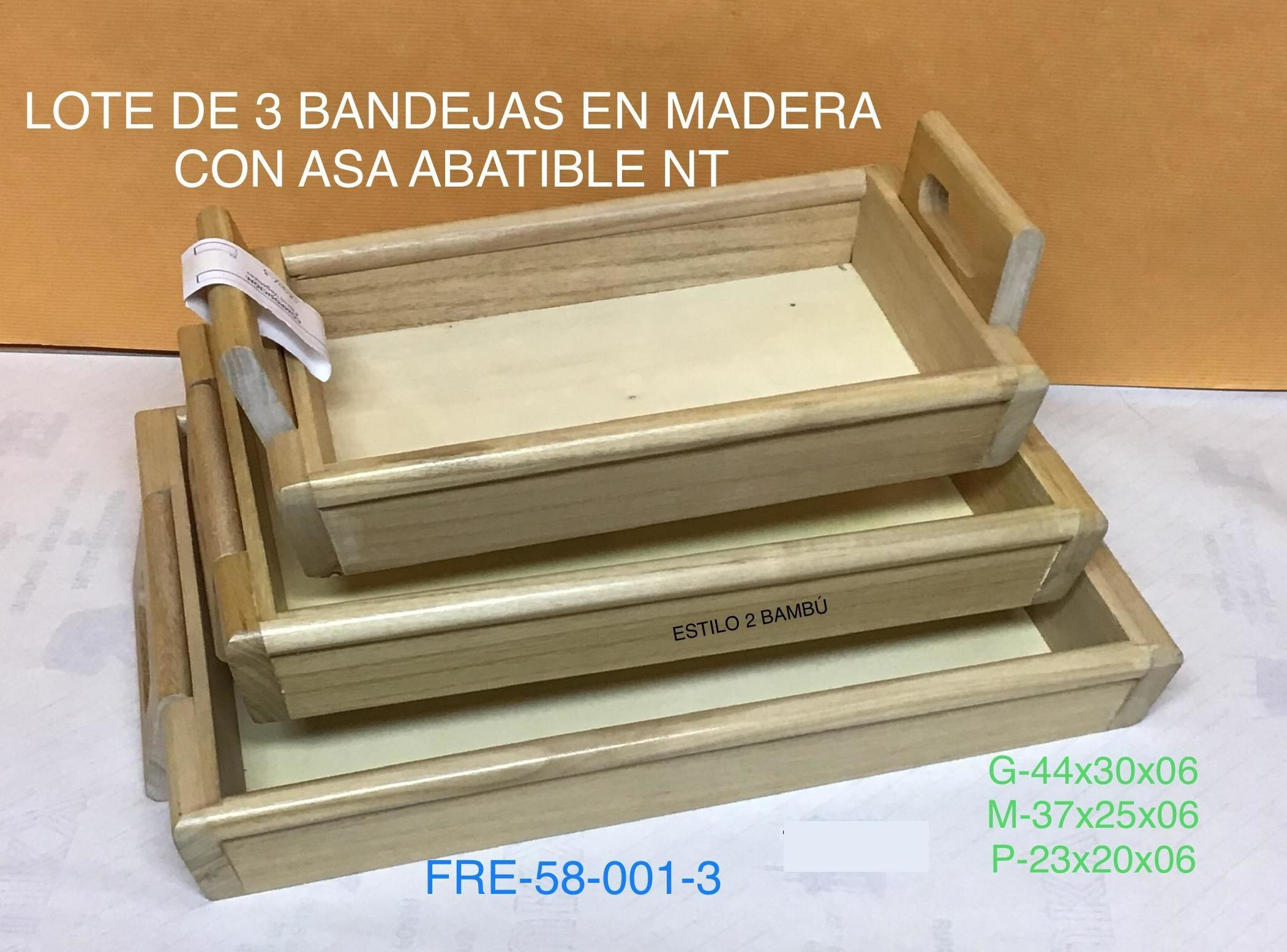 58-001-3 SET 3 BANDEJAS NATURAL ASA ABATIBLE G44X30X6