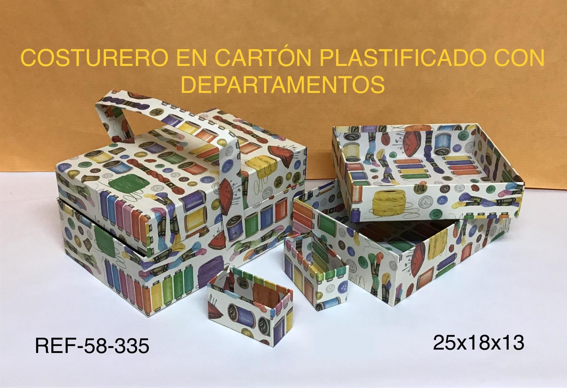 COSTURERO CARTÓN PLASTIF C/ASA 25X18X13
