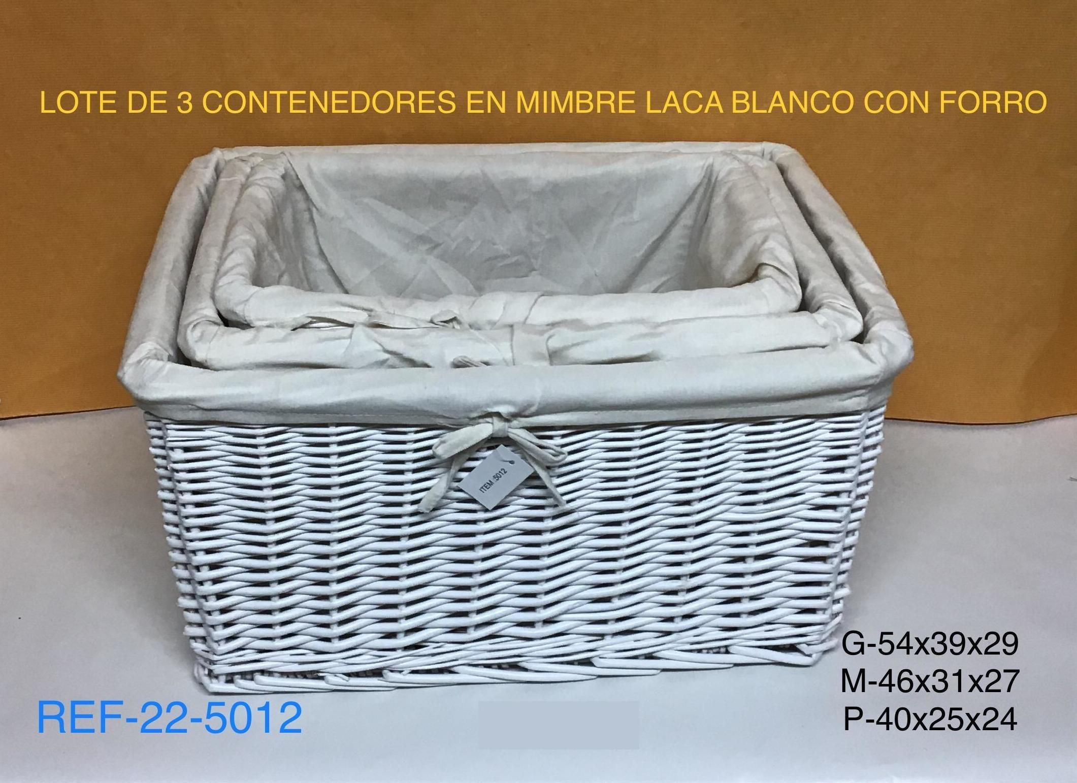 22-5012 LOTE DE 3 CONTENEDORES LC BL54X39X29