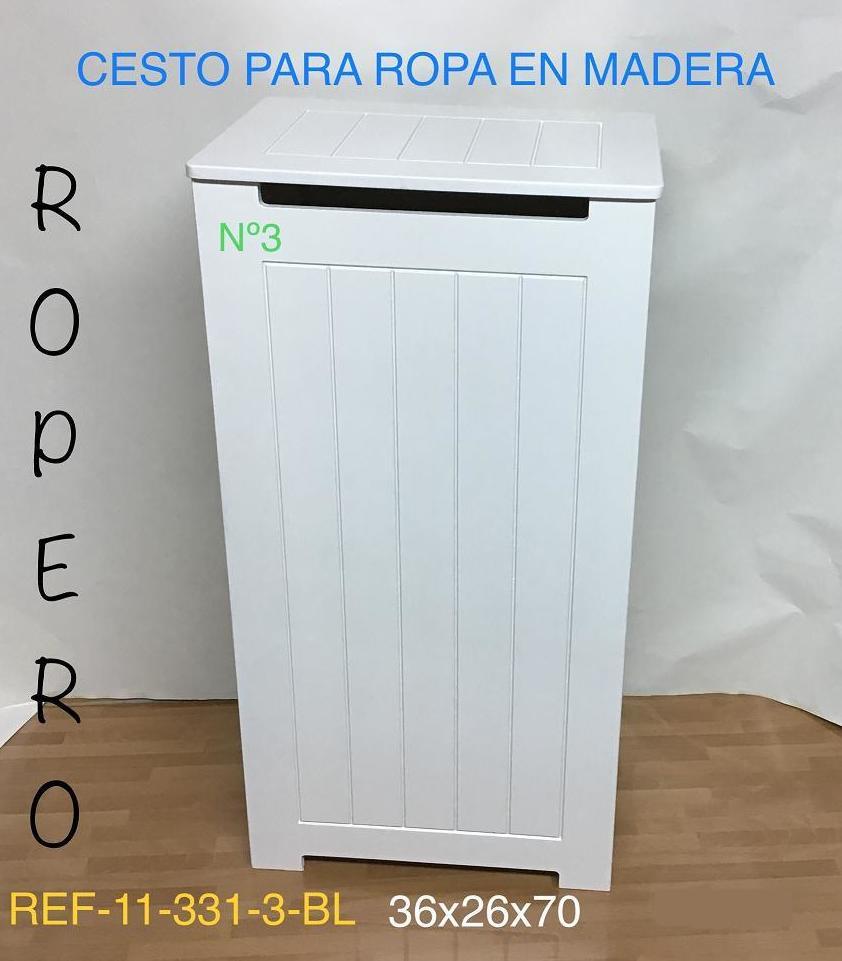 11-331-3 ROPERO RAYADO LACADO BLANCO 36x26x70