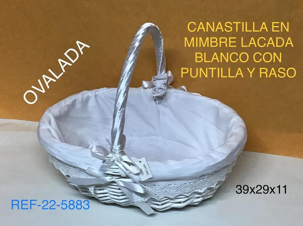 CANASTILLA OVAL BL F/PUNTILLA 37X32X11