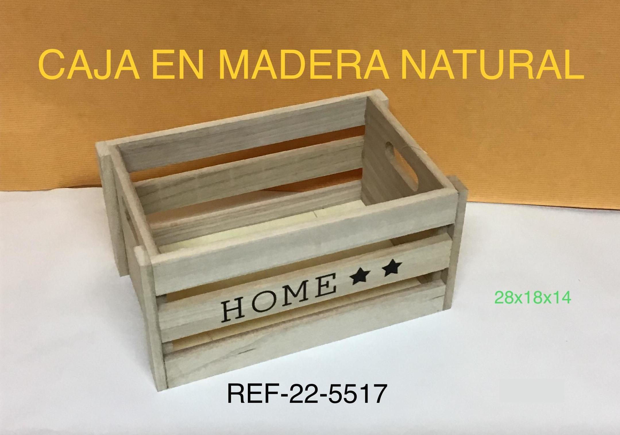 CAJA MADERA NATURAL HOME