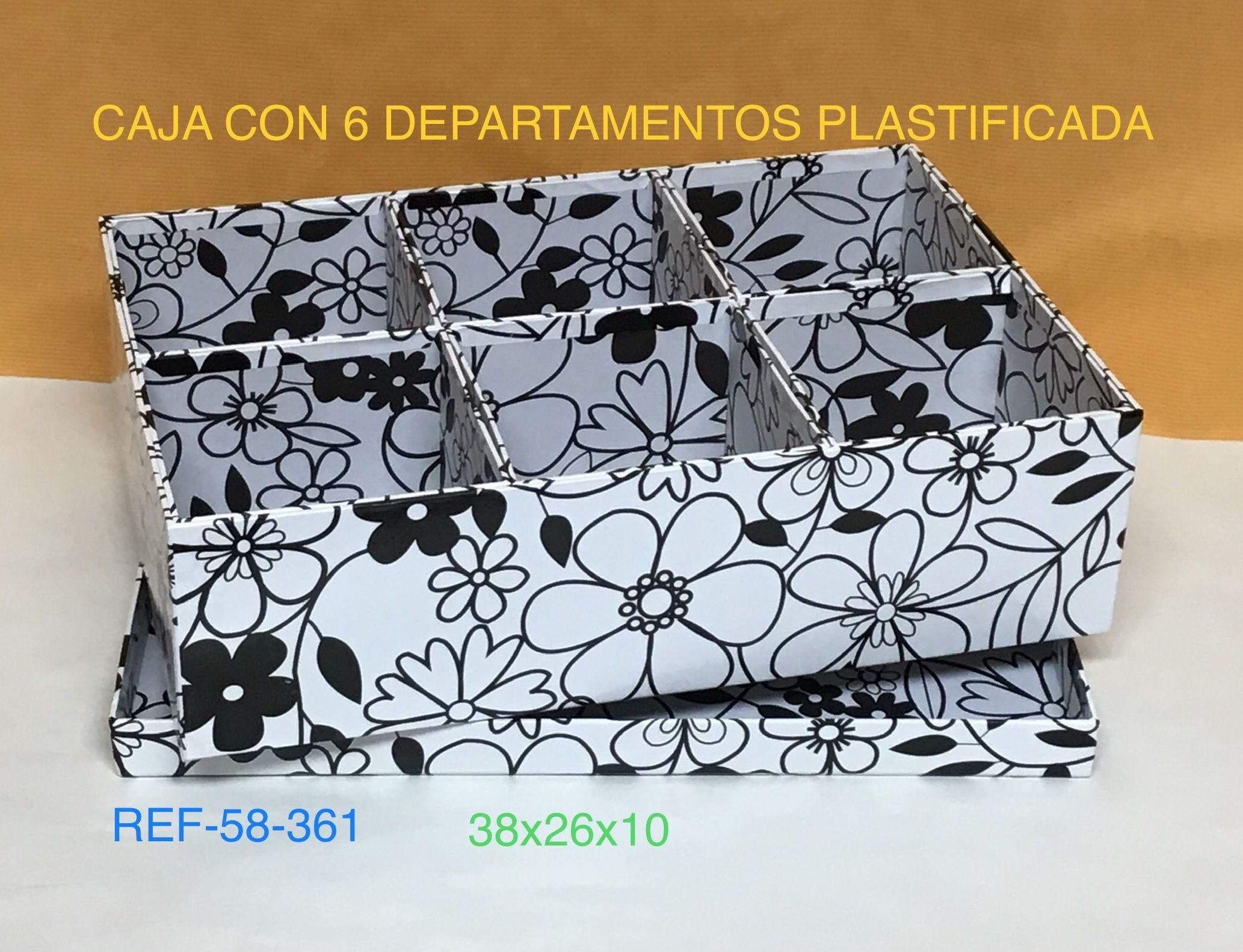 58-361 CAJA PLASTIF. 6 HUECOS FLORES 37,5X25X10,5