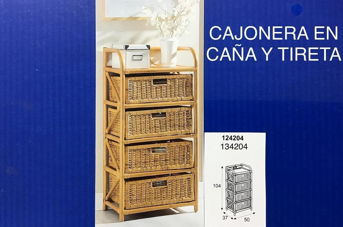 CAJONERA CAÑA-REJILLA 4 CJ BOX 50X37X104