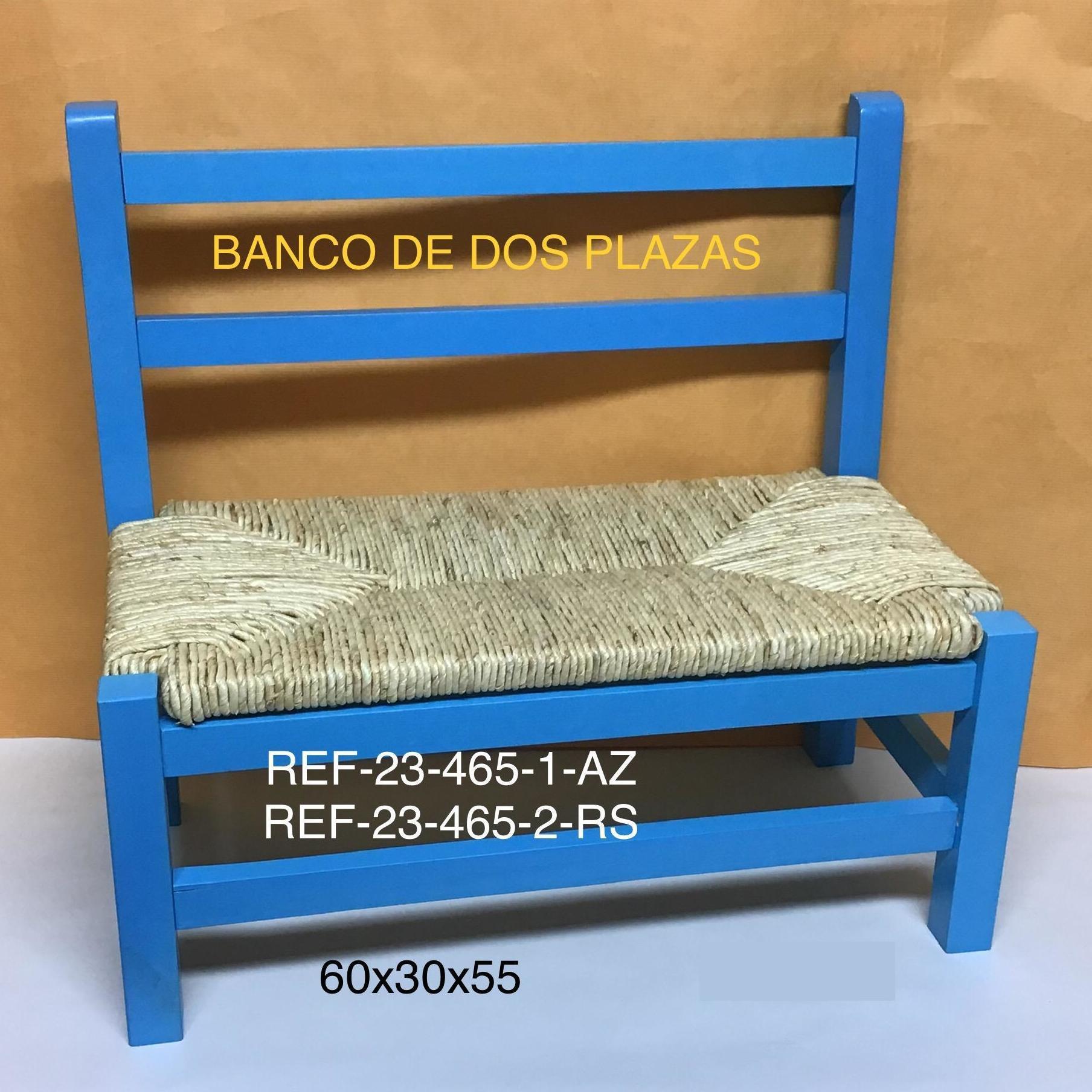 23-465-1 BANCO INFANTIL ANEA AZUL 60X30X55
